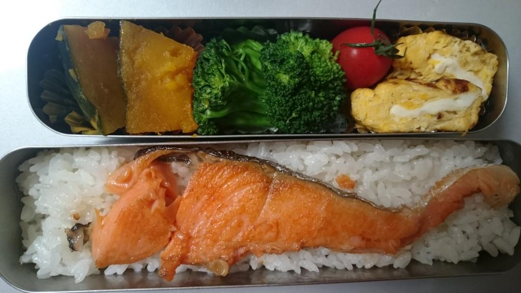春色鮭弁当☆