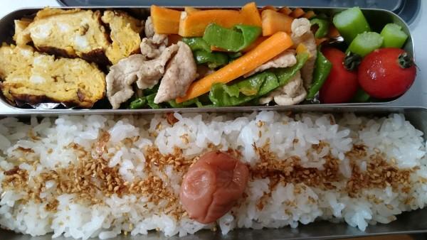野菜たっぷり炒め物弁当☆